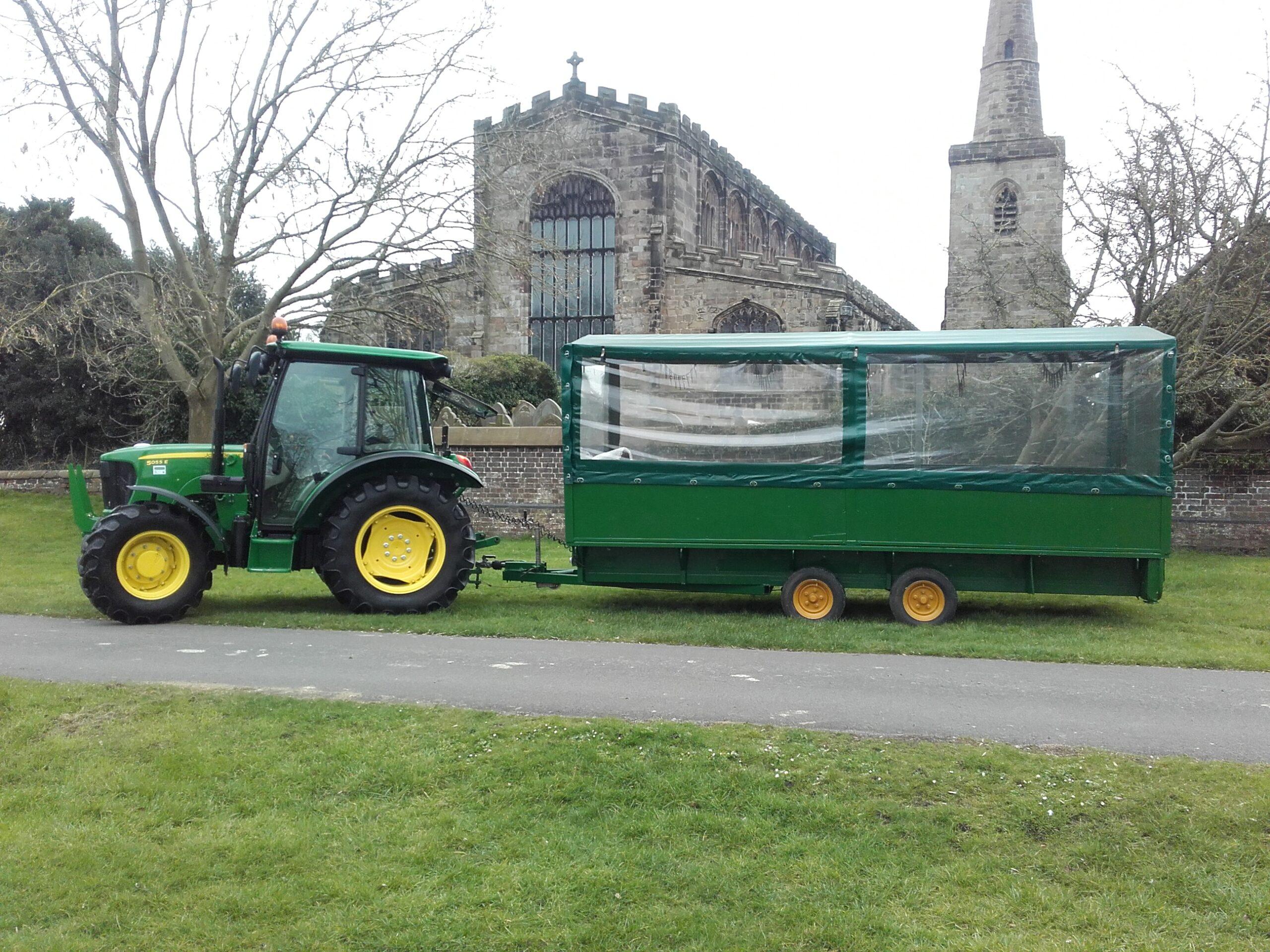 Tractor rides at Glebe Farm